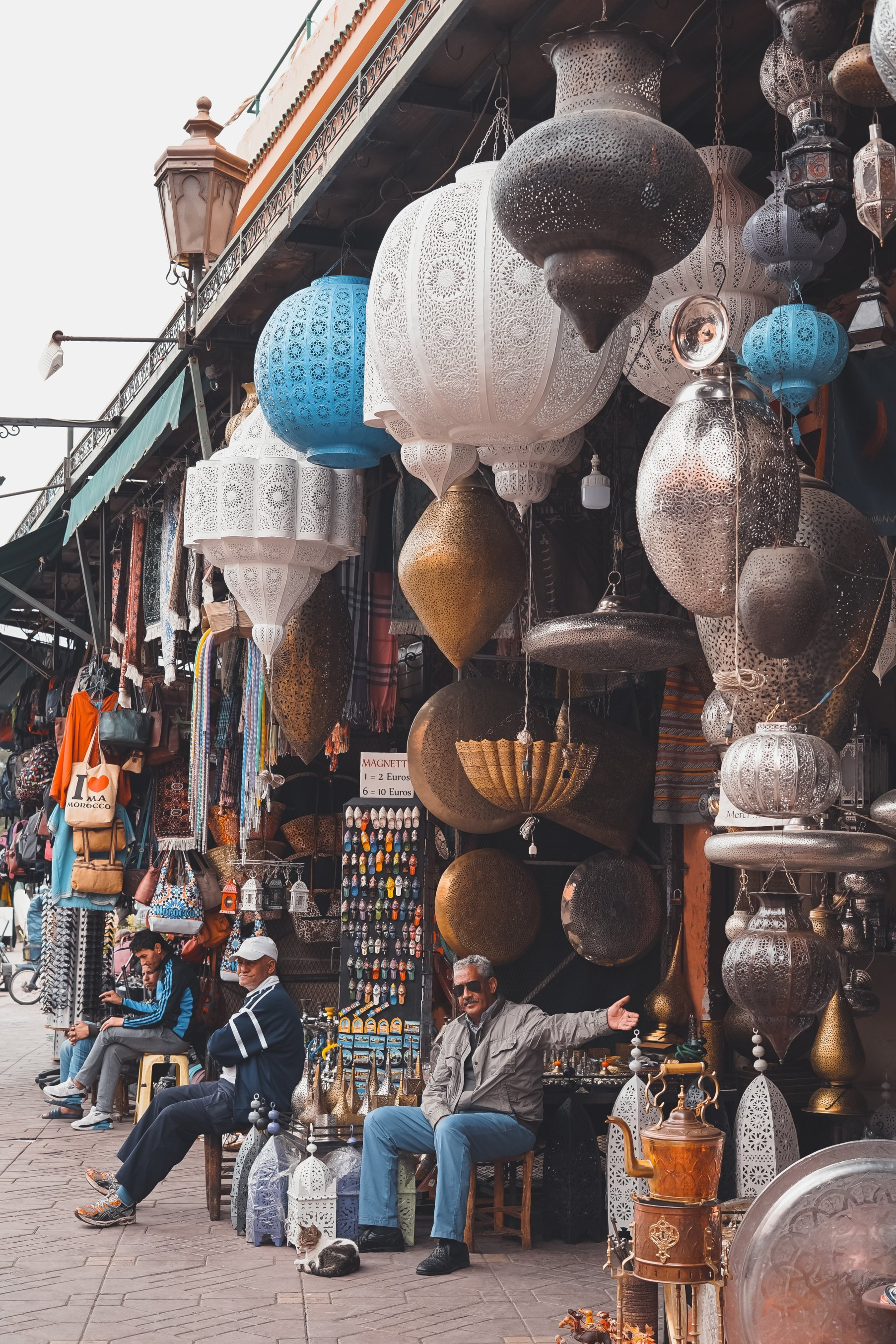 Lanterns sold at the souks of Marrakech Morocco